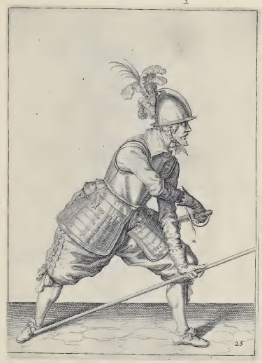 Drawing the sword from de Ghent's 1608 manual.