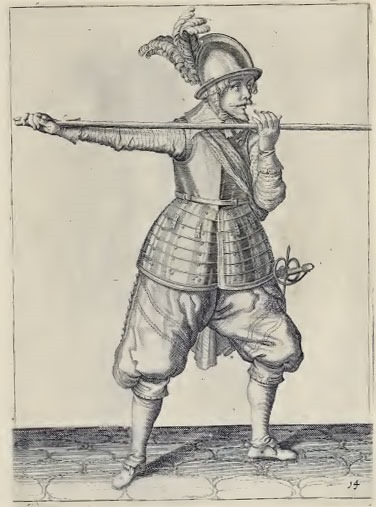 Pike Illustration from Jacob de Ghent's manual The exercise of armes for caliures, muskettes, and pikes